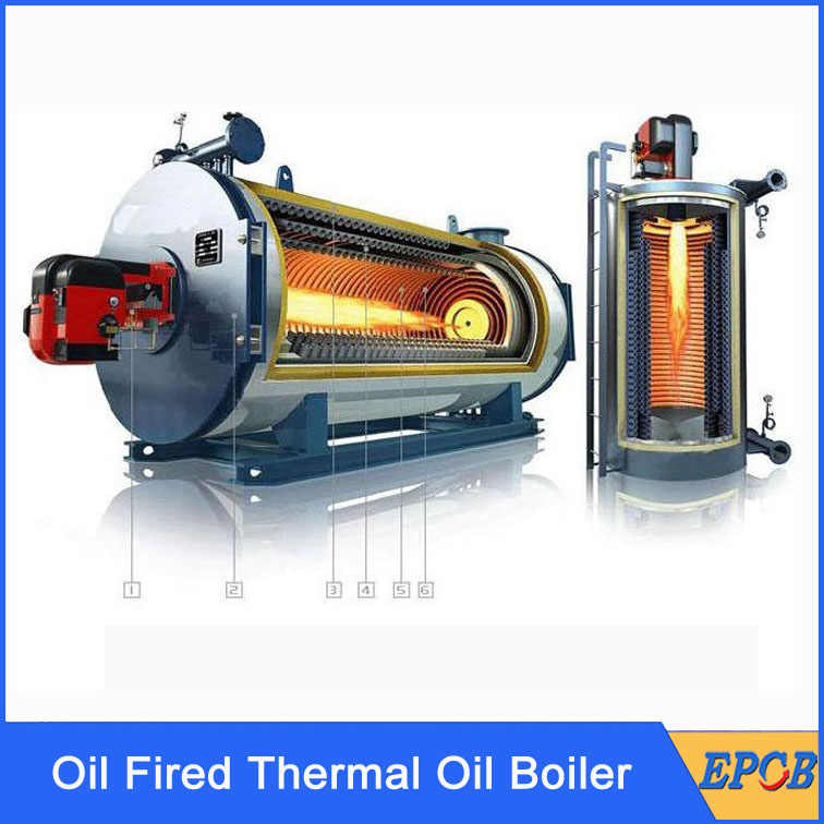 Three pass oil gas fired wet back Horizontal Oil Fired Thermal Oil ...