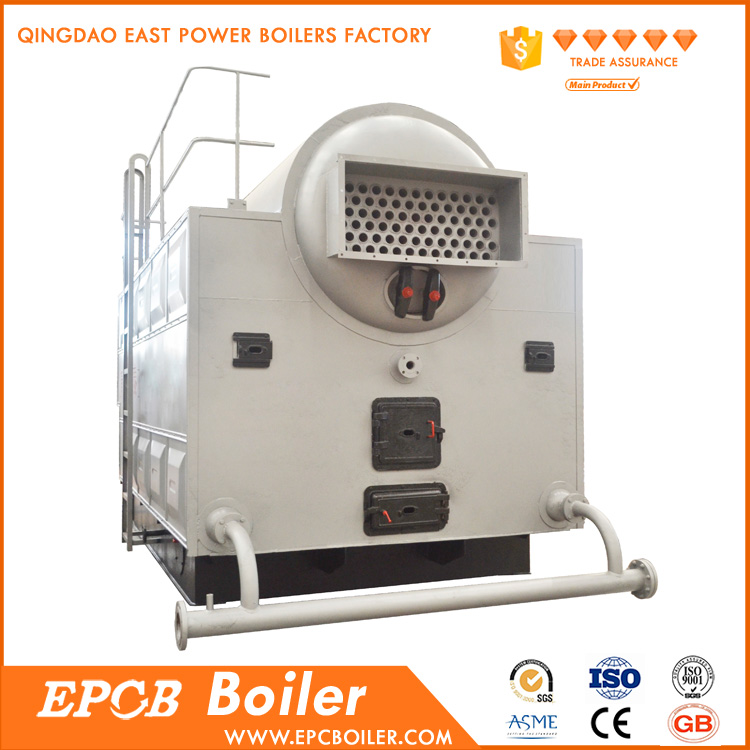 100% Safety Industrial Single Drum Steam Wood Boiler